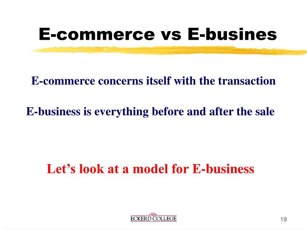 E-commerce vs E-busines