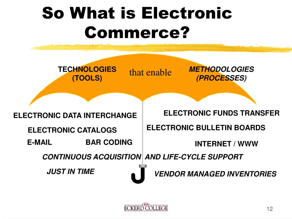 So What is Electronic Commerce?