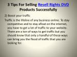 3 tips for selling resell rights dvd products successfully6