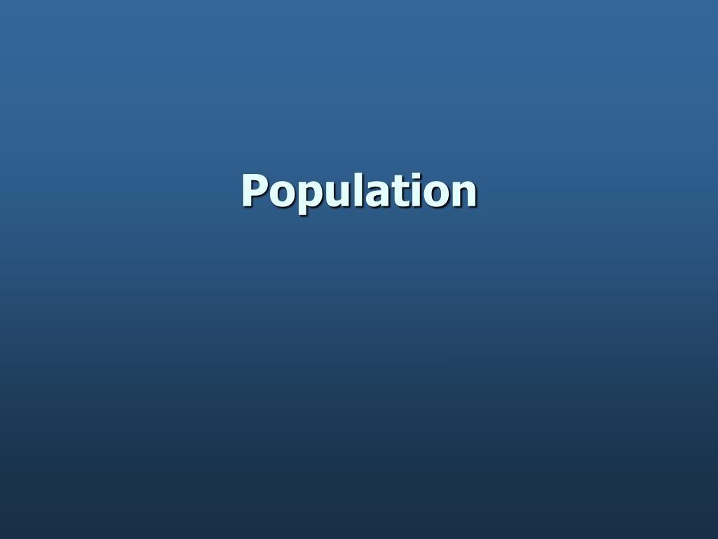 population l.