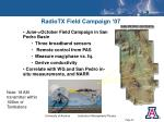 radiotx field campaign 07