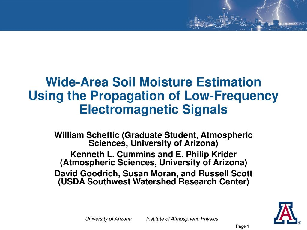 wide area soil moisture estimation using the propagation of low frequency electromagnetic signals l.
