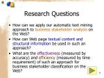 research questions34