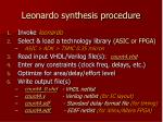 leonardo synthesis procedure