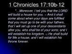 1 chronicles 17 10b 12