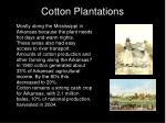 cotton plantations