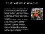 fruit festivals in arkansas
