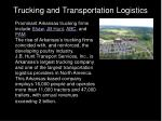 trucking and transportation logistics