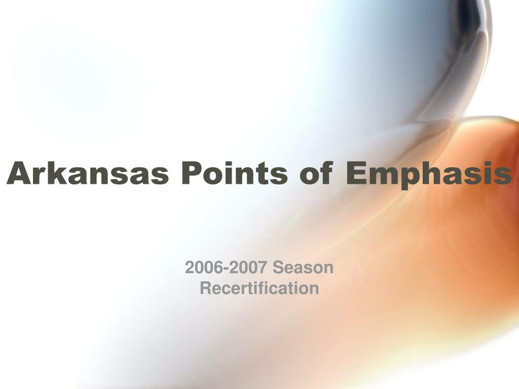 arkansas points of emphasis l.