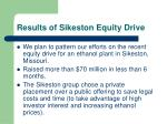 results of sikeston equity drive