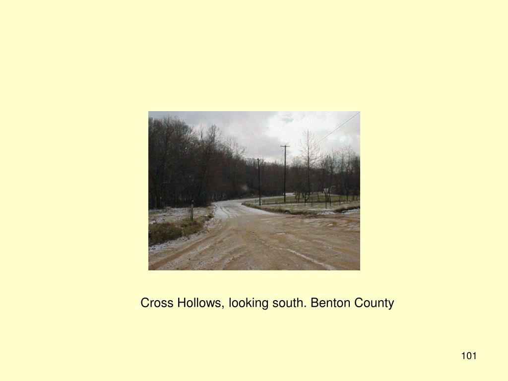 Cross Hollows, looking south. Benton County