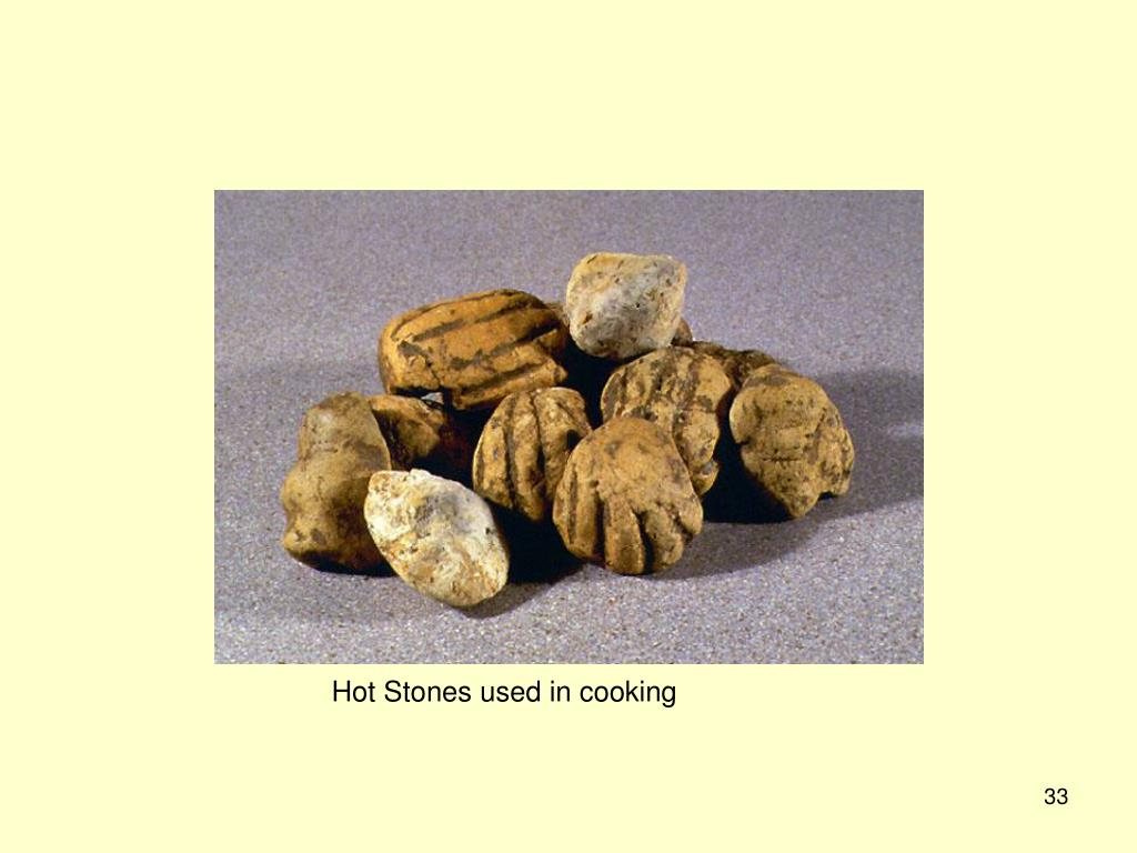 Hot Stones used in cooking