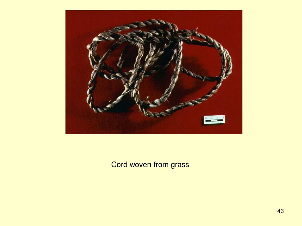 Cord woven from grass
