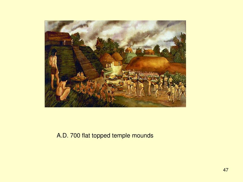 A.D. 700 flat topped temple mounds