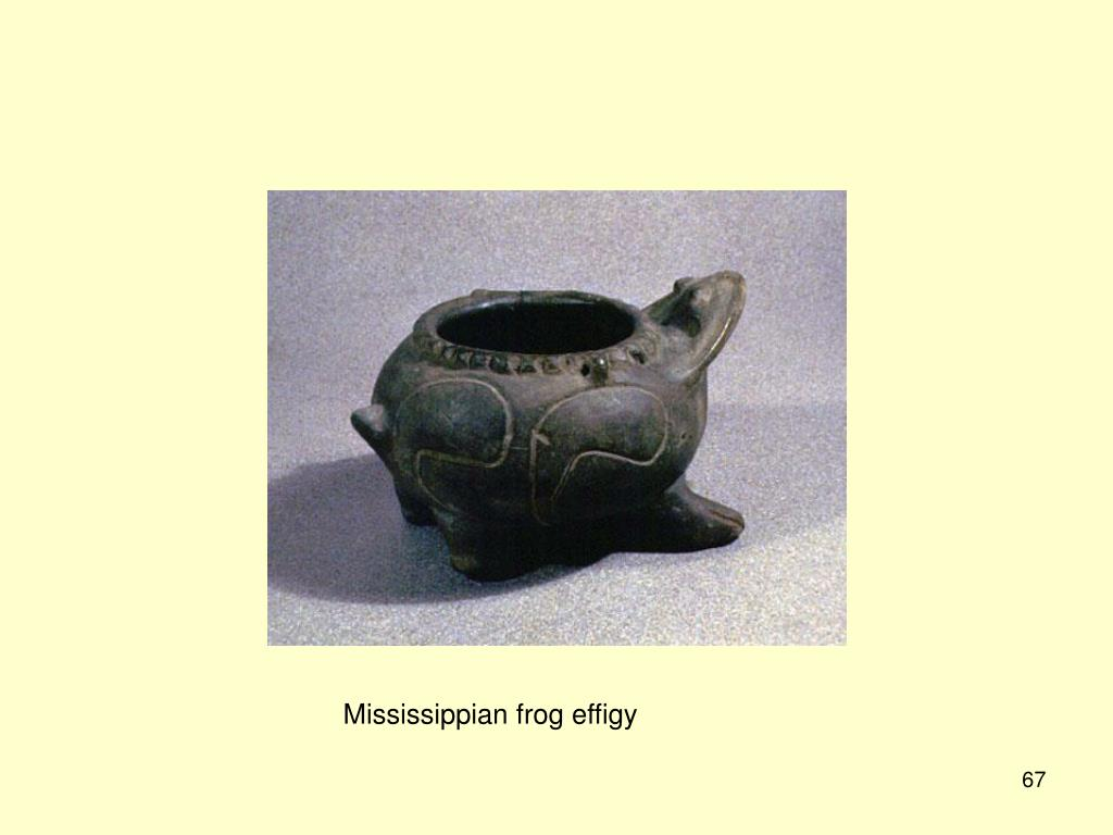 Mississippian frog effigy