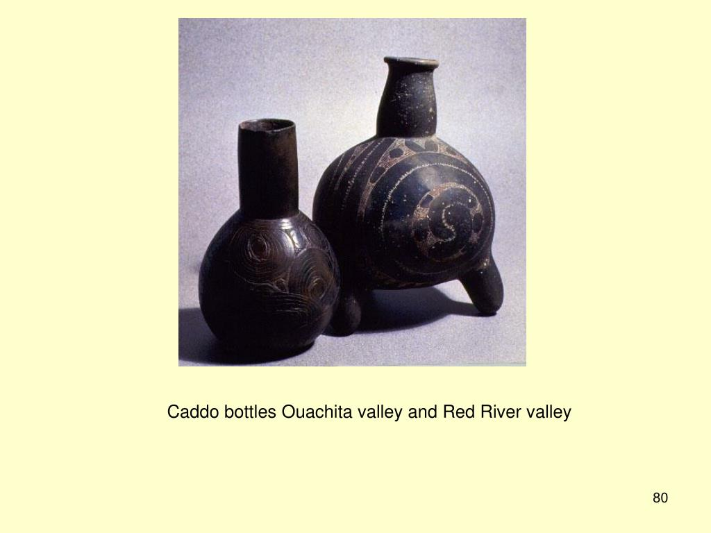 Caddo bottles Ouachita valley and Red River valley