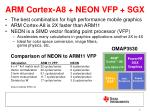 arm cortex a8 neon vfp sgx