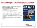 dss overlays omap display subsystem