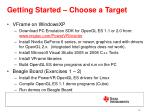 getting started choose a target