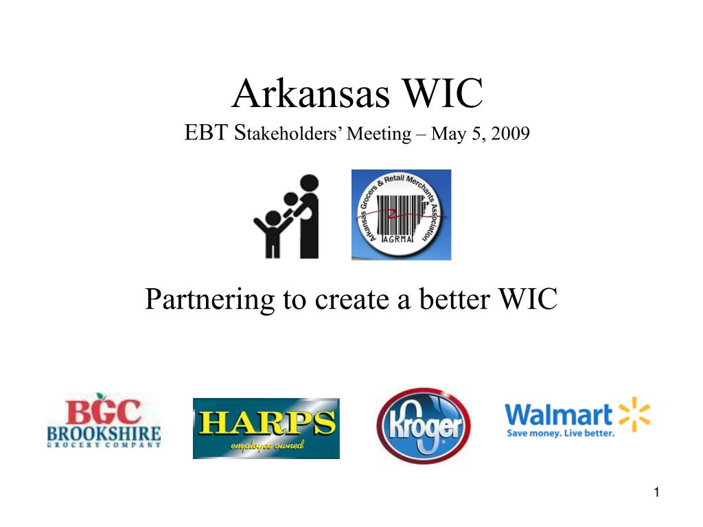arkansas wic ebt s takeholders meeting may 5 2009 l.