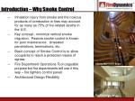 introduction why smoke control