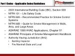 part 1 codes applicable codes guidelines