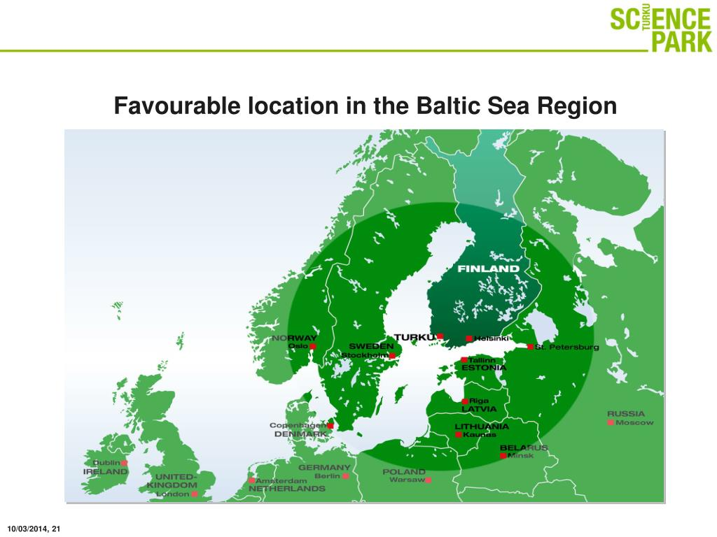 Favourable location in the Baltic Sea Region