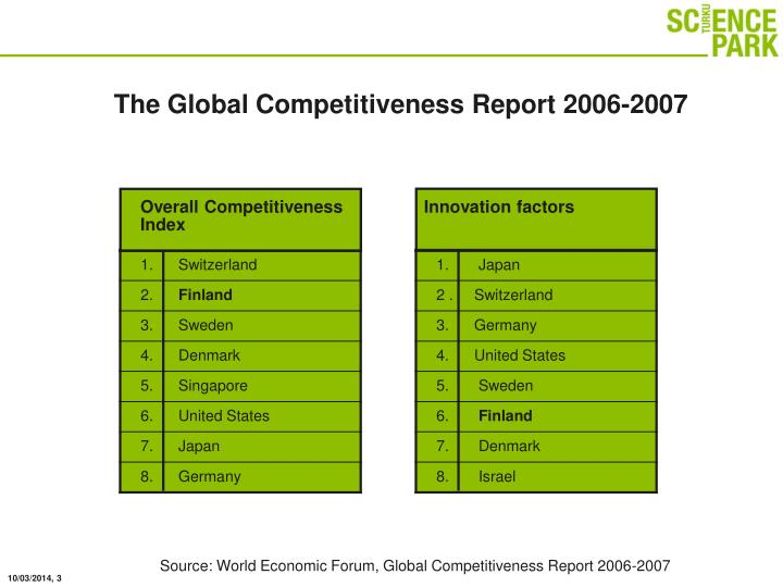 The global competitiveness report 2006 2007