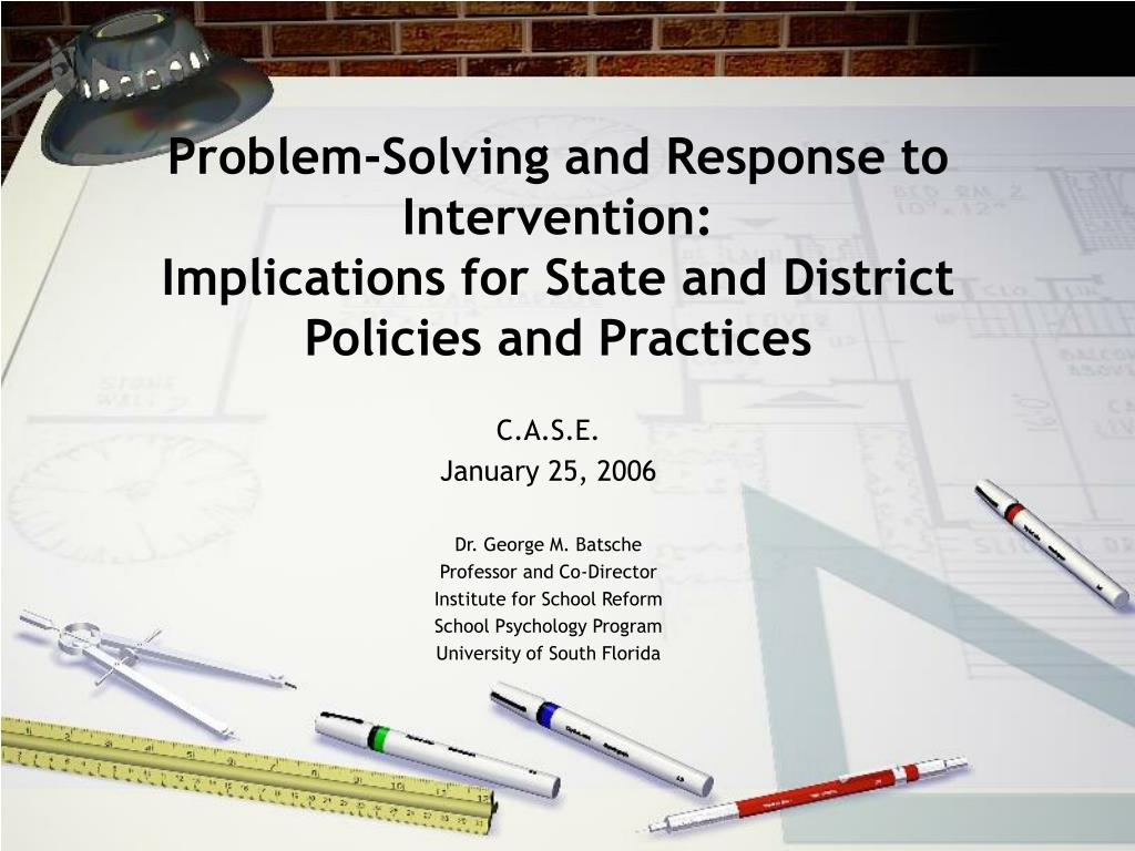 Problem-Solving and Response to Intervention: