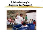 a missionary s answer to prayer