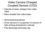 video camera charged coupled devices ccd