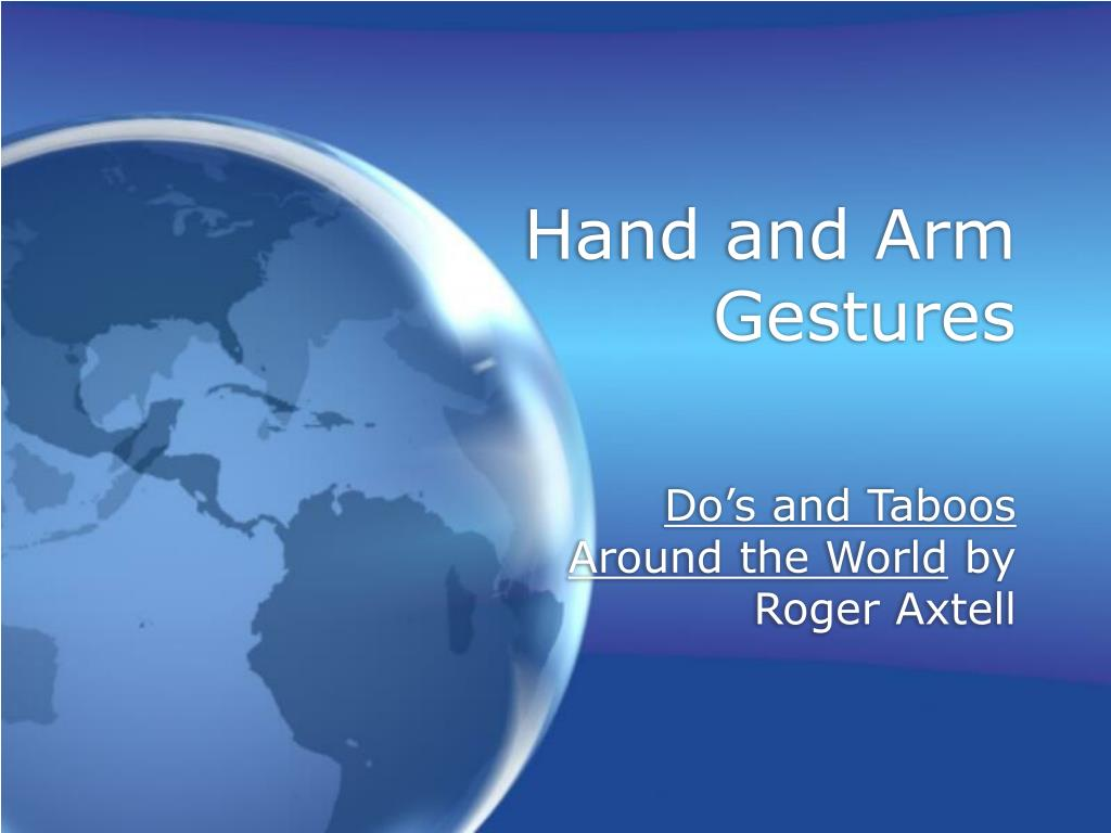 hand and arm gestures l.