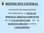 definicion general