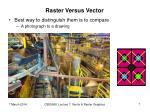 raster versus vector