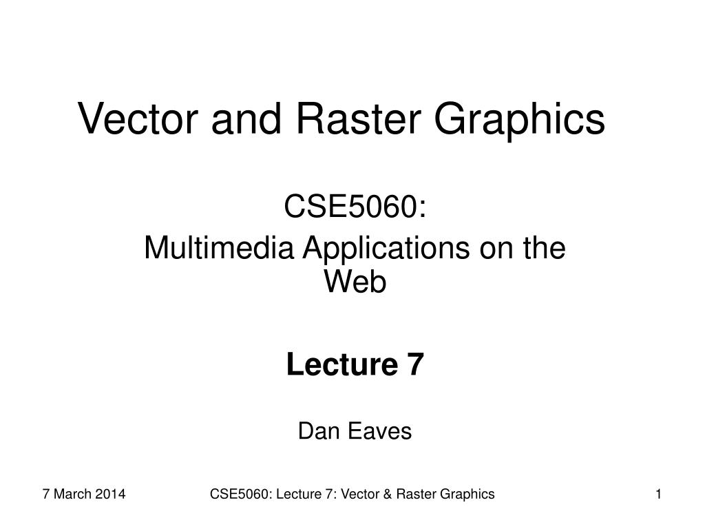 vector and raster graphics l.