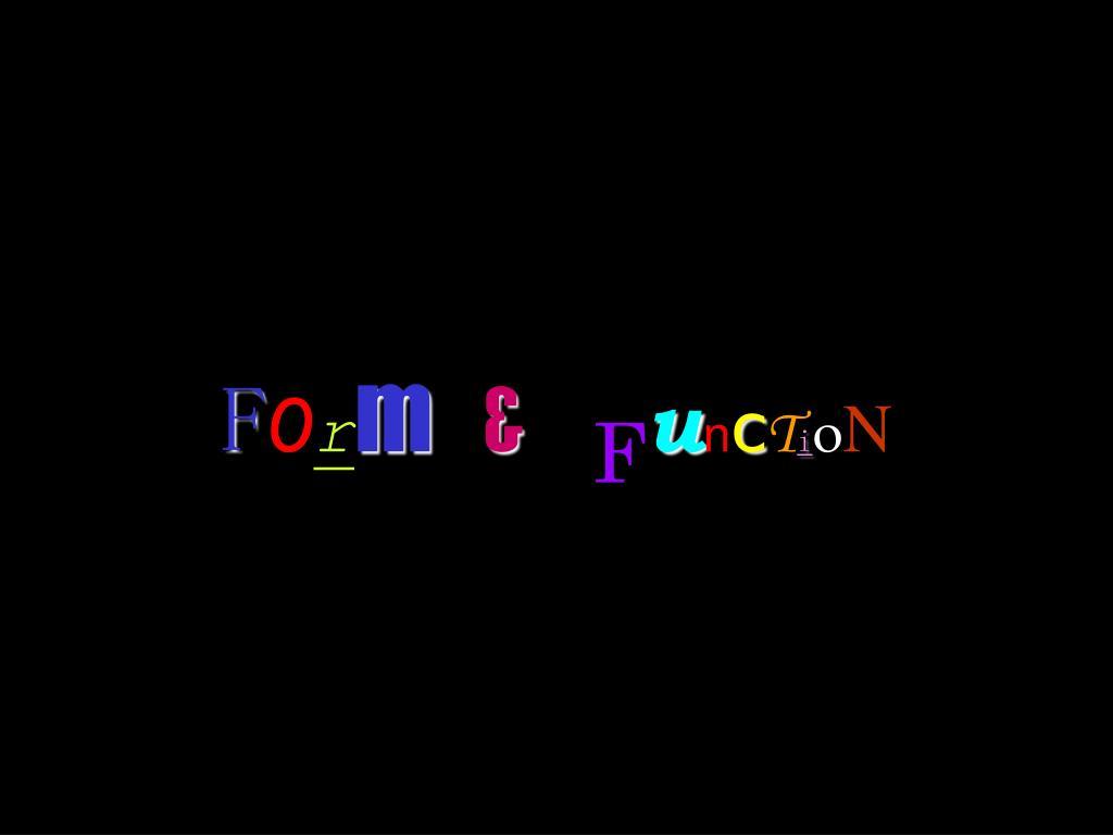 f o r m f u n c t i o n l.