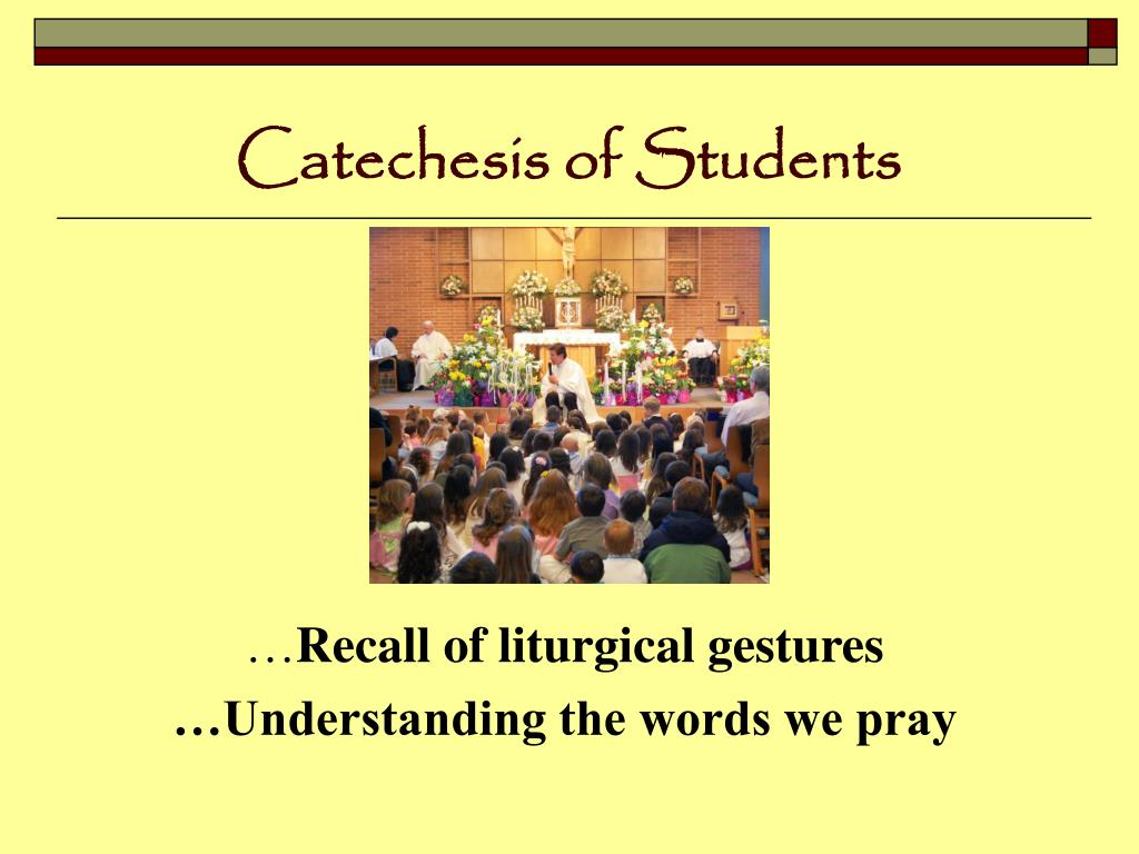 Catechesis of Students