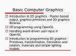 basic computer graphics