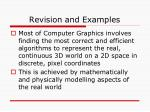 revision and examples