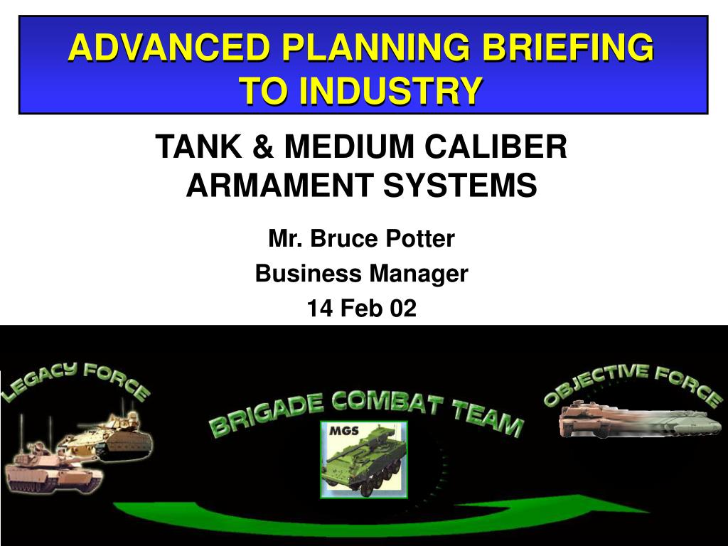advanced planning briefing to industry l.