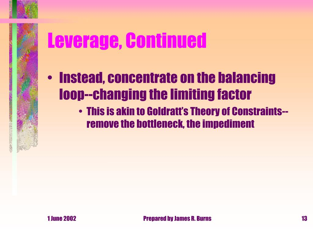 Leverage, Continued