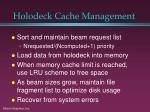 holodeck cache management