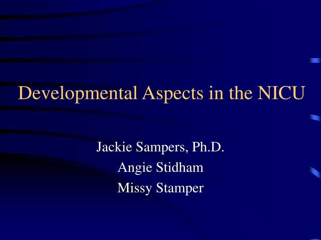 developmental aspects in the nicu l.