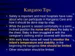 kangaroo tips