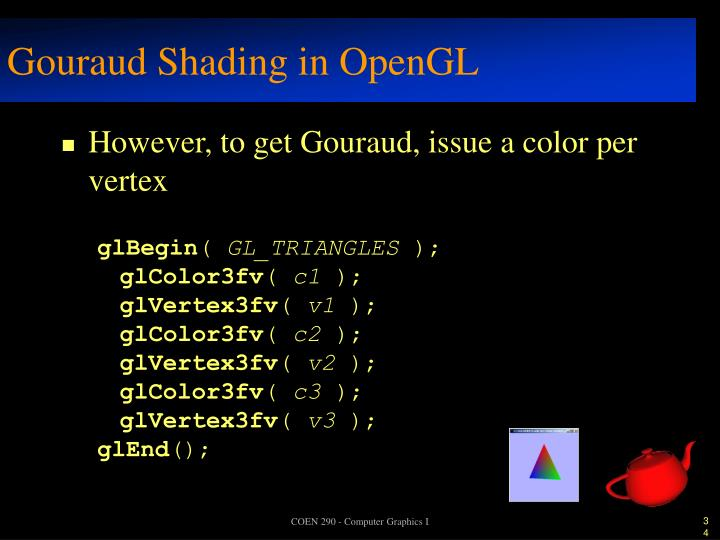 Gouraud Shading in OpenGL