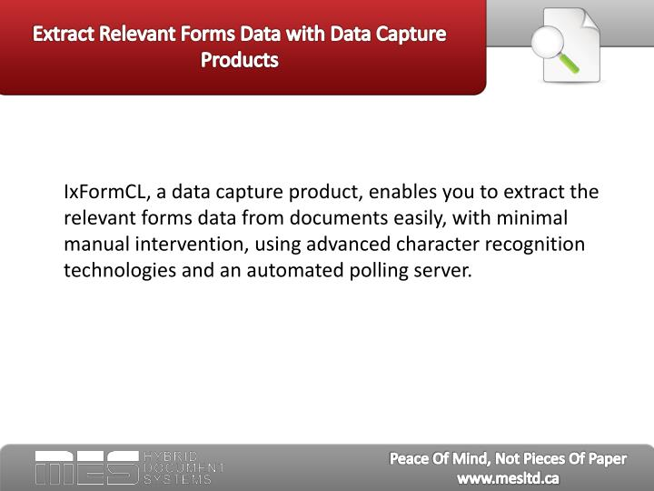 Extract relevant forms data with data capture products2