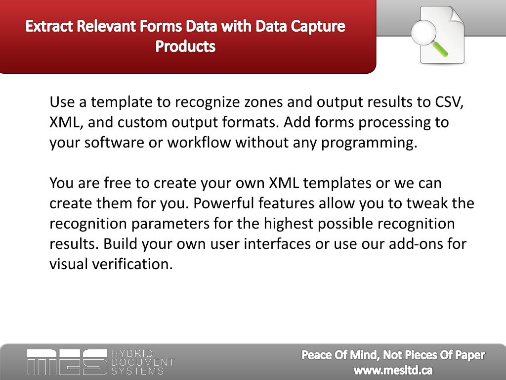 Extract Relevant Forms Data with Data Capture Products