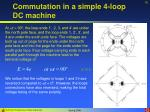 commutation in a simple 4 loop dc machine19