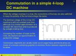 commutation in a simple 4 loop dc machine20