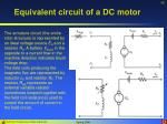 equivalent circuit of a dc motor